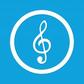 picture of treble clef  - Image of treble clef in circle - JPG