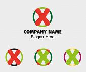 stock photo of letter x  - X logo Company name symbol letter X - JPG