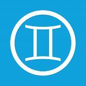 foto of gemini  - Image of Gemini zodiac symbol in circle - JPG