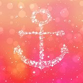 pic of starry  - Starry anchor decor on pink background with bokeh - JPG