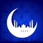 stock photo of eid ka chand mubarak  - easy to edit vector illustration of Eid Mubarak - JPG