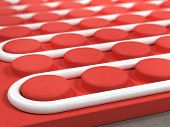 picture of floor heating  - Radiant floor heating tube   - JPG