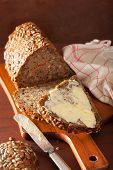 pic of whole-grain  - healthy whole grain bread with carrot and seeds - JPG