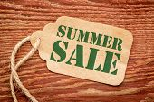 picture of red barn  - summer sale sign  - JPG