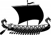 stock photo of viking ship  - drakkar viking - JPG