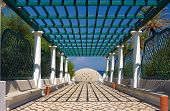 image of thermal  - The entrance to the thermal baths on the Greek island of Rhodes - JPG