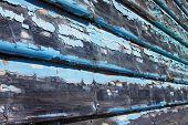 Weatherboards mit abblätternde Farbe