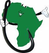 picture of continent  - fish hook that engages the African continent - JPG