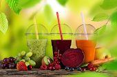 picture of fruit-juice  - Fresh juice mix fruit - JPG