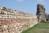 The fotress wall in Hissar, Bulgaria