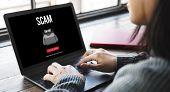 Scam Virus Spyware Malware Antivirus Concept poster