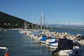 Yachts Docked In Opatija, Croatia