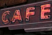 Old Neon Cafe Sign