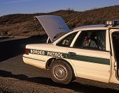 Border Patrol Car With Suspect