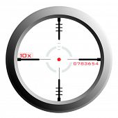 vector of a rifle scope sight with transparency