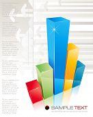 Glänzend 3D-Diagramm - Vektor-illustration