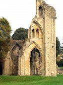Glastonbury Abbey Set Among Noble Trees