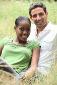 pic of mixed race  - Portrait of an interracial couple - JPG