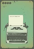 pic of poetry  - vintage writing background with oldfashioned typewriter and a blank sheet of paper - JPG