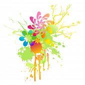 Regenbogen-farbigen Blumen Frühling beize