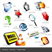 vector icon set: web (12 pieces)