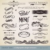 vector set: calligraphic design elements and page decoration (3) - lots of useful elements to embellish your layout