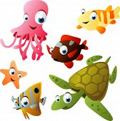 foto of sea life  - 2010 sea life vector set - JPG