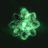 Atom Symbol. Green Symbol Symbol Green Symbol poster