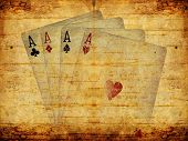Aged poker background