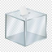 Empty Election Box Mockup. Realistic Illustration Of Empty Election Box Vector Mockup For On Transpa poster