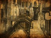 Grungy image of Venice, Italy