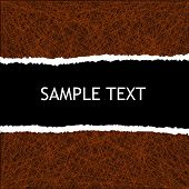 image of cut torn paper  - background with black copyspace and torn paper edge - JPG