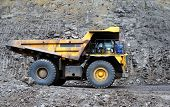 picture of dump_truck  - Coal dump truck at open cast mine - JPG