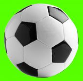 soccer ball isolated against a removable chroma key background