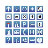 Blue Traffic Signs Collection - check portfolio for more
