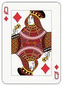 Reina de diamantes naipes