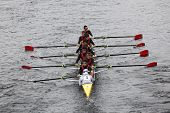 BOSTON - OCTOBER 23: Chaminade High School youth men's Eights races