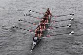 BOSTON - OCTOBER 23: Tbc Racing youth men's Eights races in the Head of Charles Regatta. Marin Rowin