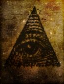 Illuminati Eye In Triangle Illustration
