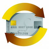 credit card constant consumerism concept illustration design