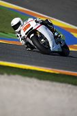 VALENCIA, SPAIN - NOVEMBER 9: Alvaro Bautista in the official motogp test with new 1.000cc engines, Ricardo Tormo Circuit of Cheste, Spain on november 9, 2011