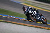 VALENCIA, SPAIN - NOVEMBER 9: Carmelo Morales in the official motogp test with new 1.000cc engines,