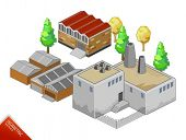 Isometric vector Objects. Isometric Series. Compose Your Own World Easily with Isometric Works. Plea