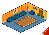 Lobby. Isometric Series. Compose Your Own World Easily with Isometric Works.