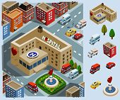 stock photo of ambulance car  - Hospital Area - JPG