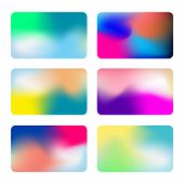 Abstract Colorful Vector Background Collection. Vivid Gradient Backgrounds. Set Of Vector Colorful S poster