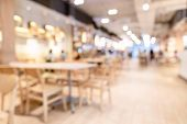 Abstract Blur And Defocused Breakfast Buffet At Hotel Restaurant Interior For Background With Wide A poster