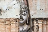 Big Buddha At Wat Si Chumit Sukhothai Thailand Big Buddha Width Of 11.30 Meters, 15 Meters High, Is  poster