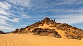 Rock Formations In The Akakus Mountains, Sahara Desert, Libya