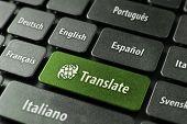 Online vertaling Service Concept